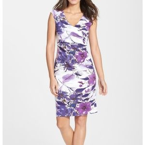 Adrianna papell sheath dress floral